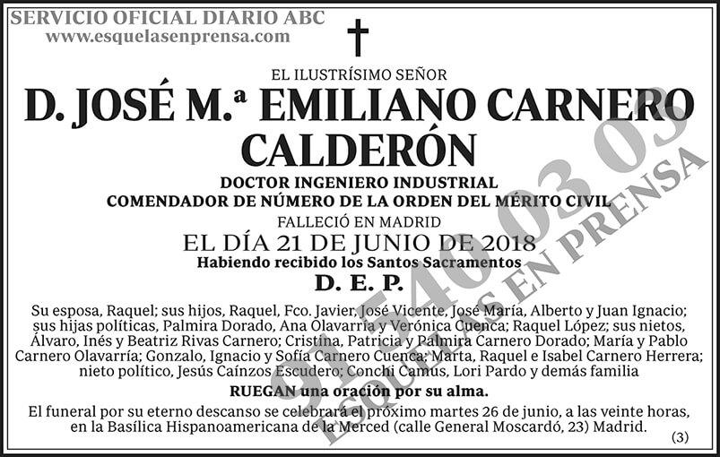 José M.ª Emiliano Carnero Calderón
